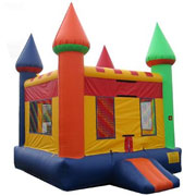 Multi-Colored Castle Moonbounce
