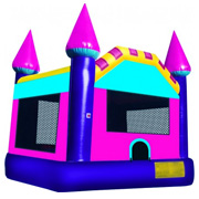 Pink and Purple Dream Castle Moonbounce
